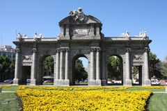 Madrid. Puerta de Alcala - a Neo-classical monument in the Plaza de la Independencia (Independence Square) in Madrid, Spain Stock Photo