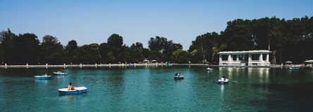 Free Madrid 2018 - People In Boats In A Lake In A Public Park Royalty Free Stock Images - 153559629