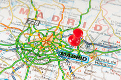 Madrid. Location of Madrid on a map Royalty Free Stock Images