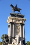 Madrid. Capital city of Spain. Monument to Alfonso XII in Retiro Park Stock Photography