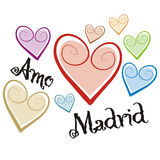 Madrid. Art illustration: i love madrid Royalty Free Stock Image