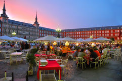 Madrid. Scene of Plaza Mayor, Madrid - Spain Royalty Free Stock Photo