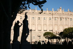 Madrid. Statues outside the Royal Palace in Madrid Stock Images
