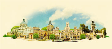madrid stock illustratie