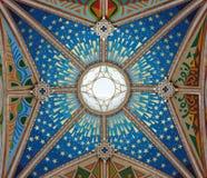 Madrid - affreschi moderni dalla cupola della cattedrale di Santa Maria la Real de La Almudena Immagini Stock