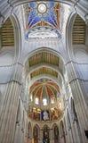 Madrid - affresco moderno dal santuario della cattedrale di Almudena Immagini Stock Libere da Diritti