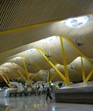 Madrid airport. Indoor modern airport architecture detail royalty free stock photos