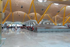Madrid airport. The new futuristic Terminal 4 of Madrid at Barajas royalty free stock image