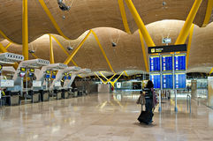 Madrid airport Stock Image