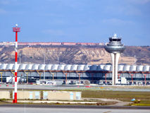Madrid Airport. A view of Control Tower Stock Photography