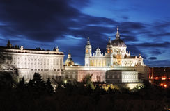 Madrid,  Almudena Cathedral and Royal Palace - Spain Royalty Free Stock Image