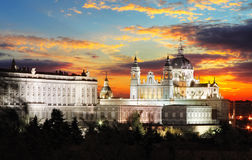 Madrid,  Almudena Cathedral,  Spain Stock Photography