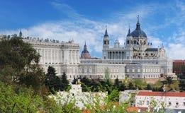 Madrid, Almudena Cathedral, Spanje Stock Foto's