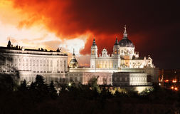 Madrid, Almudena Cathedral, Spanje Stock Fotografie