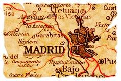 Madrid-alte Karte Lizenzfreie Stockfotografie