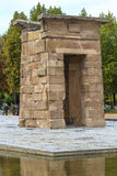Madrid, ancient Egyptian temple of Debod Royalty Free Stock Photos