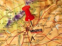 Madrid auf einer Karte Lizenzfreies Stockbild
