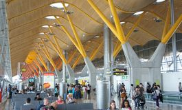 Madrid Barajas airport Royalty Free Stock Photos