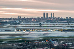 Madrid-Barajas Airport During Sunset Royalty Free Stock Photo