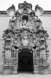 Madrid - Barok Gemeentelijk portaal van Museo stock afbeelding