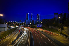 Madrid-Blau-Zeit Stockfotos