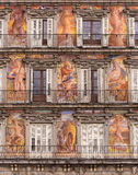 madrid borgmästareplaza Royaltyfri Fotografi