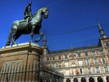 madrid borgmästareplaza Royaltyfri Bild