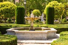 Madrid-Brunnen und Gärten Spanien Stockbild
