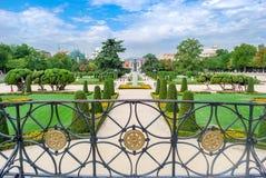 Madrid Buenen Retiro parkerar royaltyfria foton