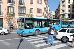 Madrid buss Arkivbild