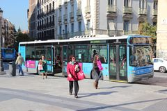Madrid buss Royaltyfri Foto