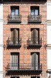 Madrid byggnader, Spanien Arkivbild