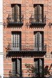 Madrid byggnader, Spanien Arkivbilder