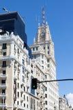 Madrid byggnader, Spanien Royaltyfri Fotografi