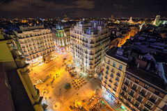 Madrid, Calle de la Montera Stock Photo
