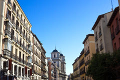Madrid - Calle de Toledo, view from Plaza Mayor Royalty Free Stock Image