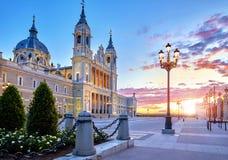 madrid Cattedrale Santa Maria la Real de Almudena Fotografia Stock Libera da Diritti