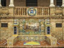 Madrid ceramic bench Seville Royalty Free Stock Photography