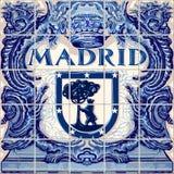 Madrid Ceramic Tiles Vector Blue Souvenir Stock Photos