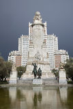 Madrid - Cervantes monument on Plaza Espana Royalty Free Stock Photos