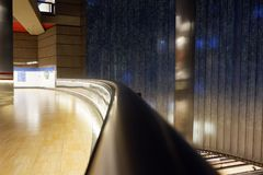 Madrid Chamartin tunnelbana och järnvägsstation arkivfoto