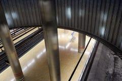 Madrid Chamartin tunnelbana och järnvägsstation fotografering för bildbyråer