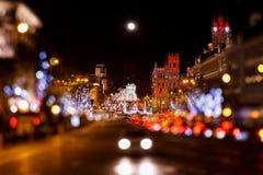 Madrid at Christmas Stock Photo