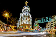 Madrid at Christmas Royalty Free Stock Photo