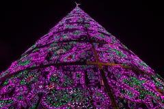 Madrid at Christmas. Shining Christmas tree. royalty free stock image