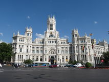 Madrid, Cibeles palace Stock Photos