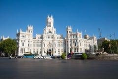 Madrid Cibeles square Royalty Free Stock Photo