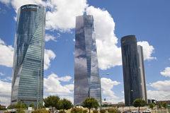 Madrid city, business centre, modern skyscrapers Royalty Free Stock Photos