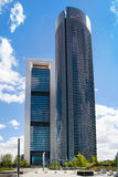 Madrid city, business centre, modern skyscrapers Royalty Free Stock Image