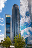 Madrid city, business centre, modern skyscrapers Stock Photography